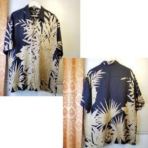 Tori Richards, 100% Silk Aloha Shirt.